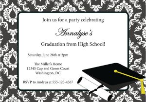 Downloadable Graduation Invitation Templates 40 Free Graduation Invitation Templates Template Lab