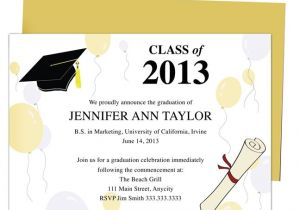 Downloadable Graduation Invitation Templates 46 Best Printable Diy Graduation Announcements Templates