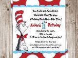 Dr Seuss 1st Birthday Party Invitations Dr Seuss Birthday Invitation $25 00 Via Etsy