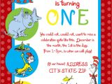 Dr Seuss 1st Birthday Party Invitations Dr Seuss First Birthday Party Invitation by Sdgraphicdesign
