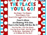 Dr Seuss Baby Shower Invitation Ideas Dr Seuss Baby Shower First Part Of Wording