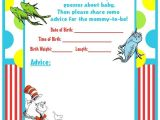Dr Seuss Baby Shower Invitation Template Dr Seuss Baby Shower Invitations Printable Free