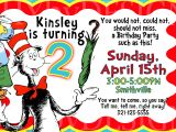 Dr Seuss Birthday Invitations Photo Dr Seuss Party Part 4 Invitations Extra Details