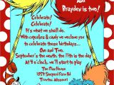 Dr Seuss Birthday Invitations Photo Invitation Dr Seuss themed Birthday Party Pinterest