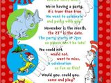 Dr Seuss First Birthday Invitations Custom Personalized Dr Seuss Inspired 1st 2nd or 3rd