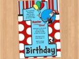 Dr Seuss First Birthday Invitations Dr Seuss 1st Birthday Invitation Diy Printable