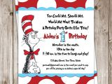 Dr Seuss First Birthday Invitations Dr Seuss Birthday Invitation $25 00 Via Etsy