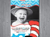 Dr Seuss First Birthday Invitations Dr Seuss Birthday Invitation First Birthday by Abbyreesedesign
