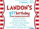 Dr Seuss First Birthday Invitations Dr Seuss Birthday Invitations March is the Month the 13th