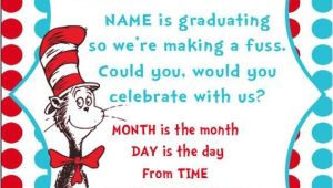 Dr Seuss Graduation Invitations Dr Seuss Graduation Quotes Quotesgram