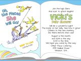Dr Seuss themed Baby Shower Invitations Dr Seuss Baby Shower Invitation