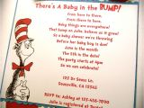 Dr Seuss themed Baby Shower Invitations Dr Seuss Cat In the Hat Inspired Baby Shower or Birthday