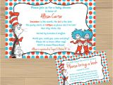 Dr Suess Baby Shower Invitation Custom Made Dr Suess Baby Shower Invitation and Free Insert