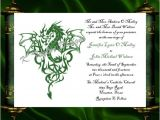 Dragon Wedding Invitations Dragon Invitation Rsvp Celtic Dragon by Katetaylordesigns