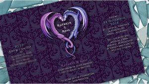 Dragon Wedding Invitations Kathryn Ross S Dragon Wedding Invitation Ink Wedding