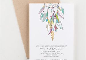 Dreamcatcher Wedding Invitations Boho Dreamcatcher Bridal Shower Save the Date Wedding