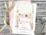 Dreamcatcher Wedding Invitations Dreamcatcher Boho 1st Birthday Invitation Digital