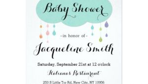 Drop In Baby Shower Invitations Rain Drop Glitter Baby Shower Invitation