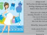 Drop In Baby Shower Invitations Shop until You Drop Baby Shower Invitation