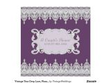 Drop In Bridal Shower Invitation Wording Vintage Tear Drop Lace Plum Grey Bridal Shower Invitation