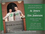 Dual Graduation Party Invitations Rustic Grunge Graduation Party Invitation with Photo