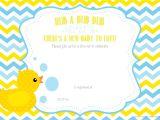 Duck Baby Shower Invitation Templates Free Printable Duck Chevron Baby Shower Invitation