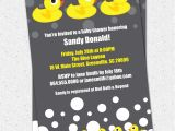 Duck Baby Shower Invitations Boy Baby Shower Invitations Rubber Duck Ducky Duckie Gender