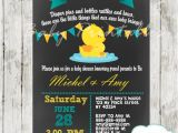 Duck Baby Shower Invitations Boy Chalkboard Rubber Ducky Baby Boy Shower Invitation D140