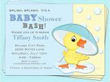 Duck Baby Shower Invitations Boy Duck Baby Shower Invitation Baby Boy Girl Printable Design