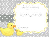 Duck Baby Shower Invitations Boy Free Printable Rubber Duck Baby Shower Invitation