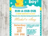 Duck Baby Shower Invitations Boy Rubber Duck Baby Shower Invitation Personalized