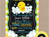 Duck Baby Shower Invitations Boy Rubber Duck Baby Shower Invitation Rubber by thecolorfulscoot