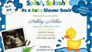 Duck Baby Shower Invitations Boy the Best Wording for Boy Baby Shower Invitations