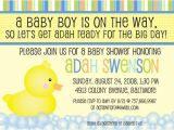 Duck themed Baby Shower Invitations Duck theme Baby Shower Invitation
