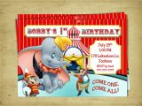 Dumbo Birthday Party Invitations Dumbo Birthday Dumbo the Flying Elephant Birthday Baby