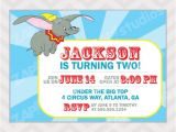 Dumbo Birthday Party Invitations Dumbo Birthday Party Invitation Digital File by Zapparty