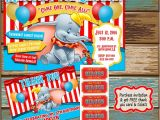 Dumbo Birthday Party Invitations Items Similar to Dumbo Birthday Invitations with Free