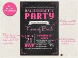 E Invites Bachelorette Party Items Similar to Bachelorette Invitation Chalkboard