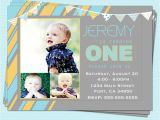E Invites for First Birthday First 1st Birthday Invitations Boy Modern First by