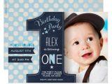 E Invites for First Birthday First Birthday Party Invitation Boy Chalkboard Zazzle Com