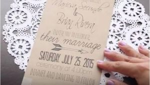 Easy Wedding Invitation Ideas Diy 19 Easy to Make Wedding Invitation Ideas 2493359