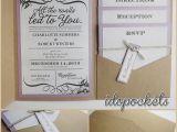 Ebay Wedding Invitations Kraft Wedding Pocket Invitations Diy Pocketfold Envelopes