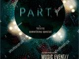 Eclipse Party Invitations Dark Eclipse Party Invitation Poster Flyer Template