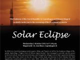 """Eclipse Party Invitations Screening Of the Documentary """"solar Eclipse"""" In Husets"""