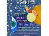 Eclipse Party Invitations solar Eclipse Party Funny Retro Sun Viewing 2017 Card