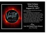 Eclipse Party Invitations Van Till Family Farm Winery Kansas City area Winery