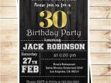 Editable 30th Birthday Invitations 30th Birthday Surprise Party Gold Black Mens 30th