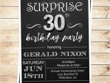 Editable 30th Birthday Invitations Surprise 30th Birthday Invitations for Him Mens 30th