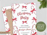 Editable Holiday Party Invitation Editable Christmas Party Invitation Holiday Party