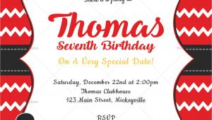 Editable Mickey Mouse Birthday Invitation Template Editable Mickey Mouse Birthday Invitation Card Design